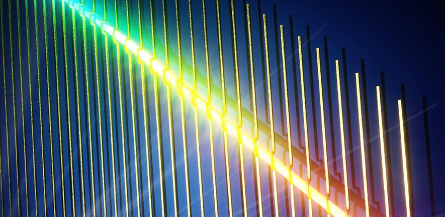 Nanowires replace Newton's famous glass prism